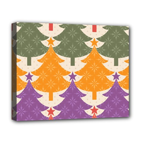 Tree Christmas Pattern Deluxe Canvas 20  X 16
