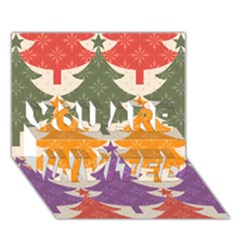 Tree Christmas Pattern You Are Invited 3d Greeting Card (7x5)