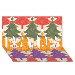 Tree Christmas Pattern Best Bro 3d Greeting Card (8x4)