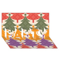 Tree Christmas Pattern Party 3d Greeting Card (8x4)