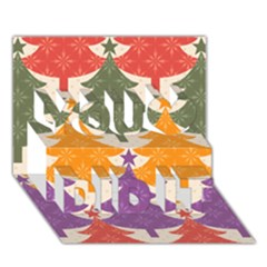 Tree Christmas Pattern You Did It 3d Greeting Card (7x5)