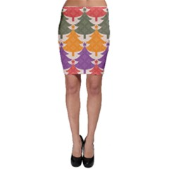 Tree Christmas Pattern Bodycon Skirt
