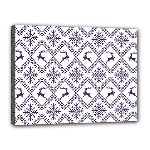 Simple Christmas Pattern Seamless Vectors  Canvas 16  X 12