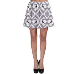Simple Christmas Pattern Seamless Vectors  Skater Skirt
