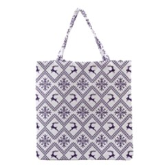 Simple Christmas Pattern Seamless Vectors  Grocery Tote Bag