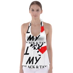 Black And Tan Coonhound Love Babydoll Tankini Top