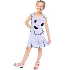 Westie Cartoon Kids  Tunic Dress