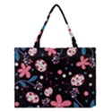 Pink ladybugs and flowers  Medium Tote Bag View1