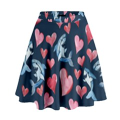 Shark Lover High Waist Skirt