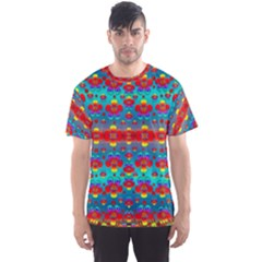 Peace Flowers And Rainbows In The Sky Men s Sport Mesh Tee