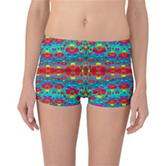 Peace Flowers And Rainbows In The Sky Reversible Bikini Bottoms