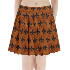 Royal1 Black Marble & Brown Marble Pleated Mini Skirt