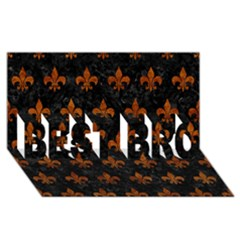 Royal1 Black Marble & Brown Marble (r) Best Bro 3d Greeting Card (8x4)