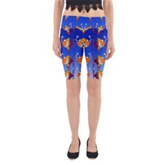 Illustration Fish Pattern Yoga Cropped Leggings