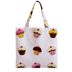 Colorful Cupcakes  Zipper Grocery Tote Bag