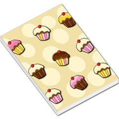 Colorful cupcakes pattern Large Memo Pads
