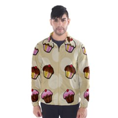 Colorful Cupcakes Pattern Wind Breaker (men)