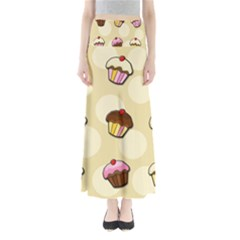 Colorful Cupcakes Pattern Maxi Skirts