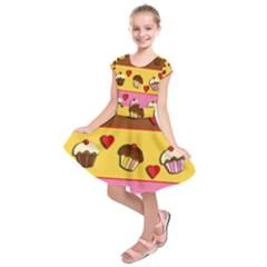Love cupcakes Kids  Short Sleeve Dress