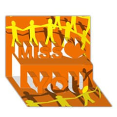 March Line Miss You 3d Greeting Card (7x5)