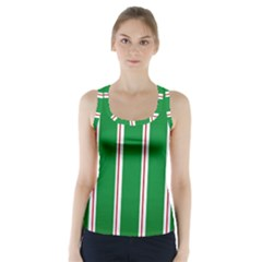 Green Line Racer Back Sports Top