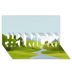 Scenery #1 Mom 3d Greeting Cards (8x4)