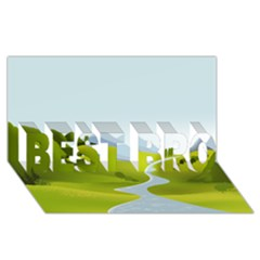 Scenery Best Bro 3d Greeting Card (8x4)