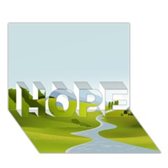 Scenery Hope 3d Greeting Card (7x5)