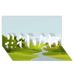 Scenery #1 Dad 3d Greeting Card (8x4)