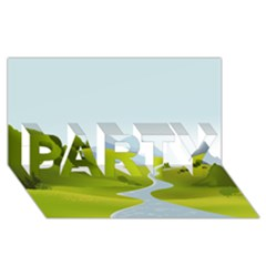 Scenery Party 3d Greeting Card (8x4)