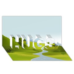 Scenery Hugs 3d Greeting Card (8x4)