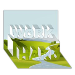Scenery Work Hard 3d Greeting Card (7x5)