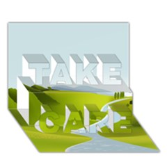 Scenery Take Care 3d Greeting Card (7x5)
