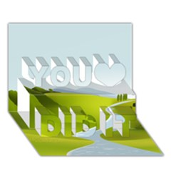 Scenery You Did It 3d Greeting Card (7x5)