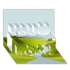 Scenery You Rock 3d Greeting Card (7x5)
