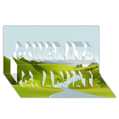 Scenery Congrats Graduate 3d Greeting Card (8x4)