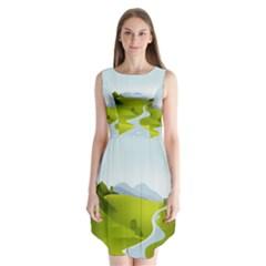 Scenery Sleeveless Chiffon Dress
