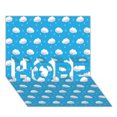Seamless Fluffy Cloudy And Sky Hope 3d Greeting Card (7x5)