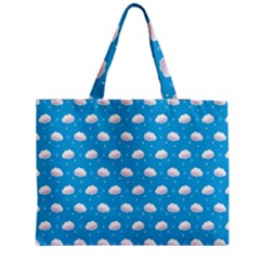 Seamless Fluffy Cloudy And Sky Medium Tote Bag