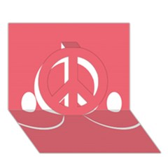 Sign Peace Sign 3d Greeting Card (7x5)