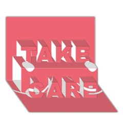 Sign Take Care 3d Greeting Card (7x5)