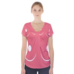 Sign Short Sleeve Front Detail Top