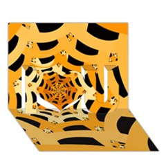 Spider Helloween Yellow I Love You 3d Greeting Card (7x5)