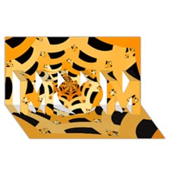 Spider Helloween Yellow Mom 3d Greeting Card (8x4)