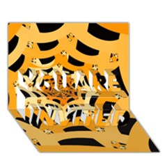 Spider Helloween Yellow You Are Invited 3d Greeting Card (7x5)
