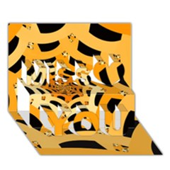 Spider Helloween Yellow Miss You 3d Greeting Card (7x5)