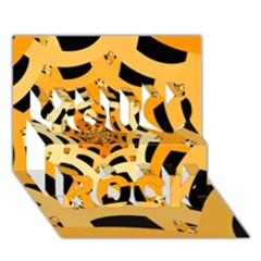Spider Helloween Yellow You Rock 3d Greeting Card (7x5)