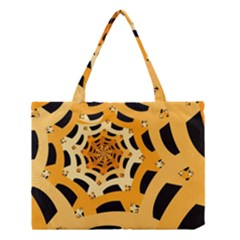 Spider Helloween Yellow Medium Tote Bag