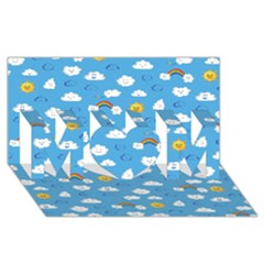 White Clouds Mom 3d Greeting Card (8x4)