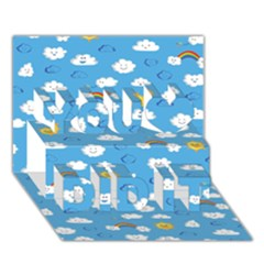 White Clouds You Did It 3d Greeting Card (7x5)